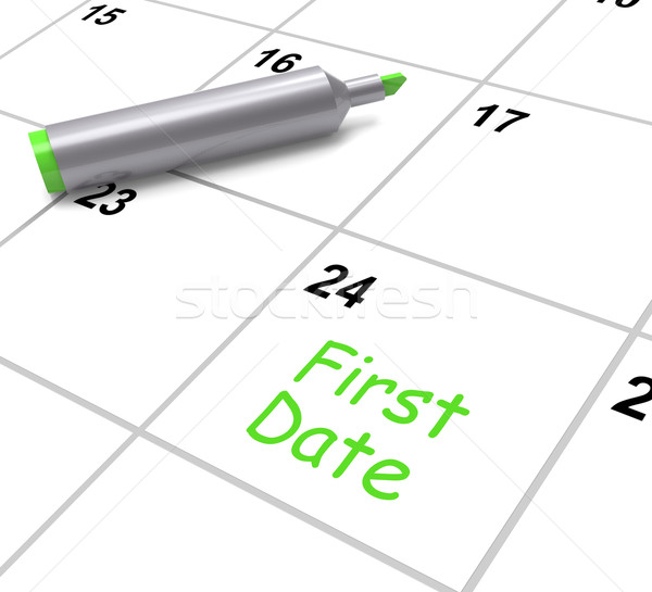 First Date Calendar Shows Seeing Somebody And Romance Stock photo © stuartmiles