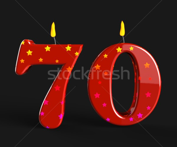 Number Seventy Candles Mean Special Anniversary Or Birthday Part Stock photo © stuartmiles
