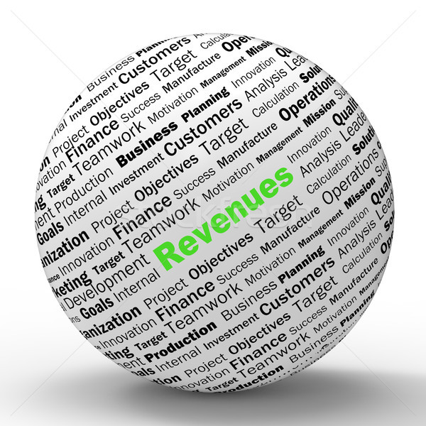 Revenues Sphere Definitions Shows Financial Growth Or Improvemen Stock photo © stuartmiles