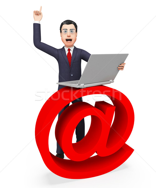 Email Sign Shows Send Message And Biz Stock photo © stuartmiles