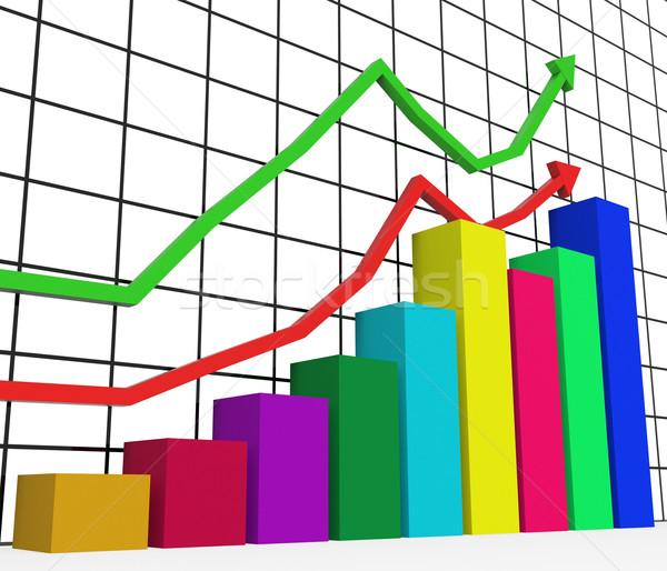 Grafik büyüme istatistik veri ticaret Stok fotoğraf © stuartmiles
