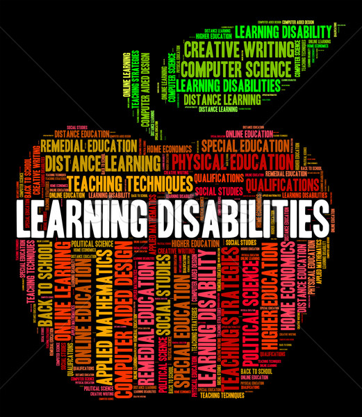 Learning Disabilities Words Means Special Education And Educate Stock photo © stuartmiles
