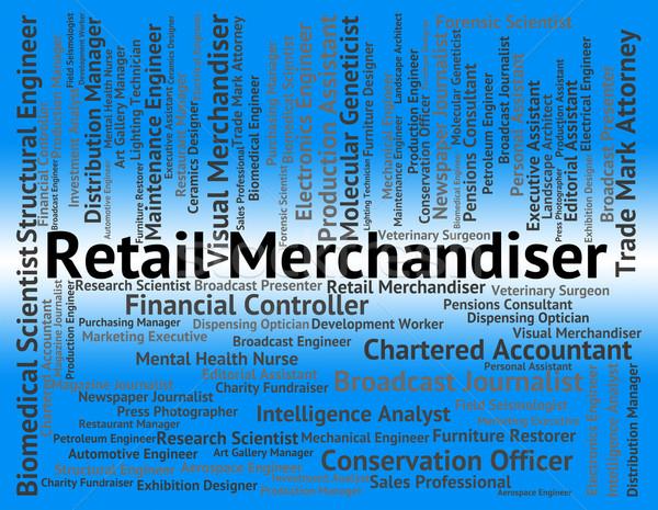 Varejo significado trabalho mercado marketing Foto stock © stuartmiles