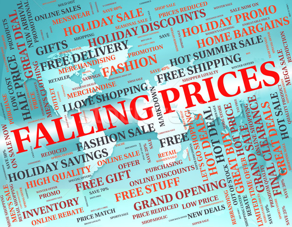 Falling Prices Represents Lower Retail And Promotion Stock photo © stuartmiles