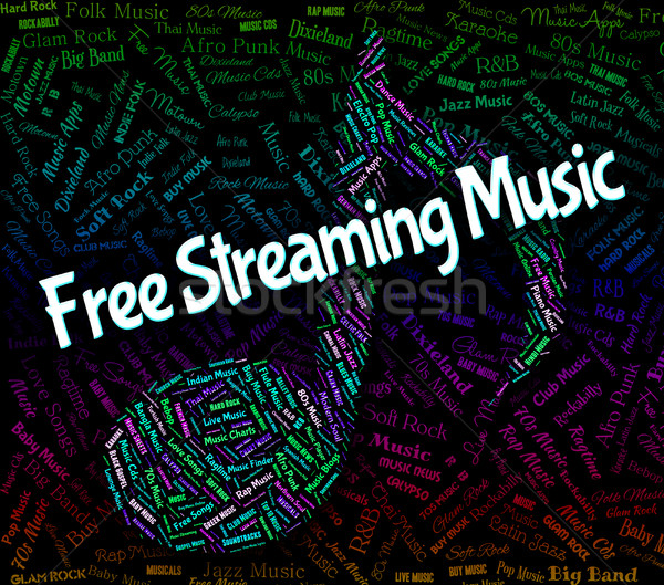 Free Streaming Music Means No Cost And Acoustic Stock photo © stuartmiles
