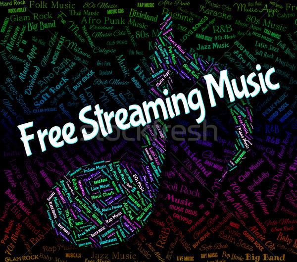 Livre de streaming música não custo acústico Foto stock © stuartmiles