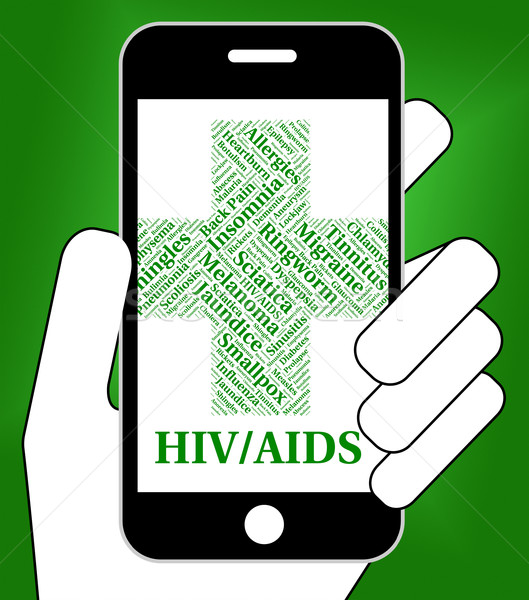 Hiv Aids Means Human Immunodeficiency Virus And Affliction Stock photo © stuartmiles