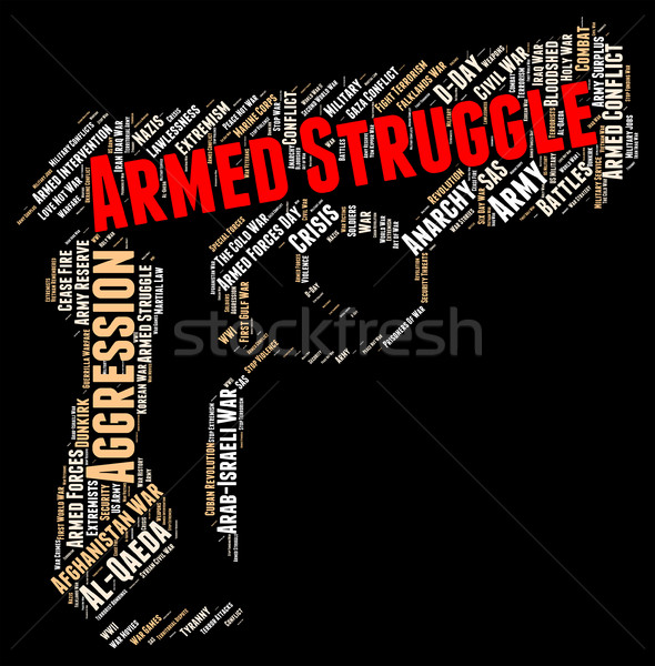 Armed Struggle Indicates Wage War And Arms Stock photo © stuartmiles