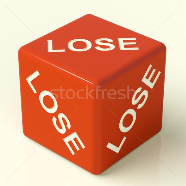 Elveszít kocka vereség kudarc piros játék Stock fotó © stuartmiles
