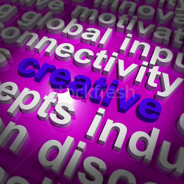 Creative Word Representing Innovative Ideas And Imagination Stock photo © stuartmiles