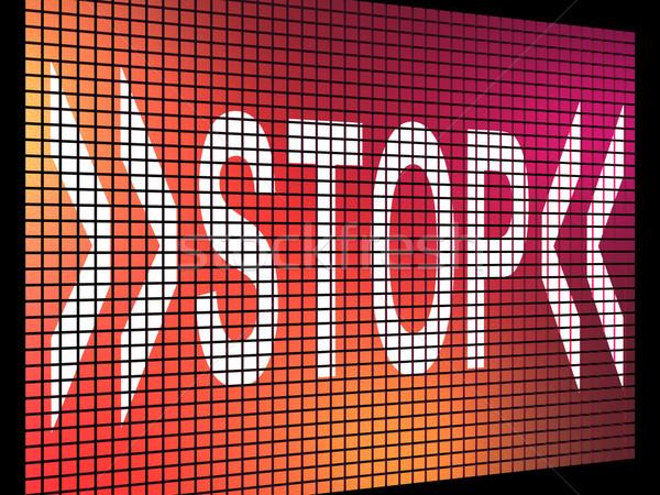 остановки экране отказ паника отрицательность Сток-фото © stuartmiles