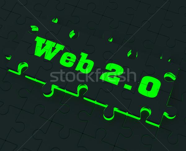 Web 20 puzzle sociale réseau Photo stock © stuartmiles