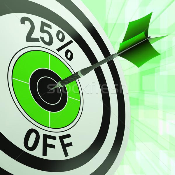 На 25 процент процент сокращение цен Сток-фото © stuartmiles