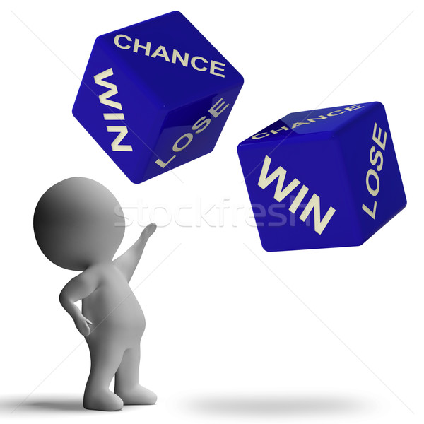 Chance Win Lose Dice Showing Betting Stock photo © stuartmiles