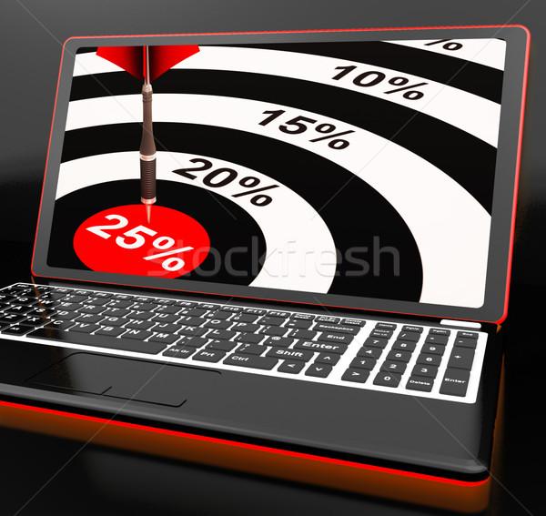 25 yüzde dizüstü bilgisayar fiyatlar satış Stok fotoğraf © stuartmiles