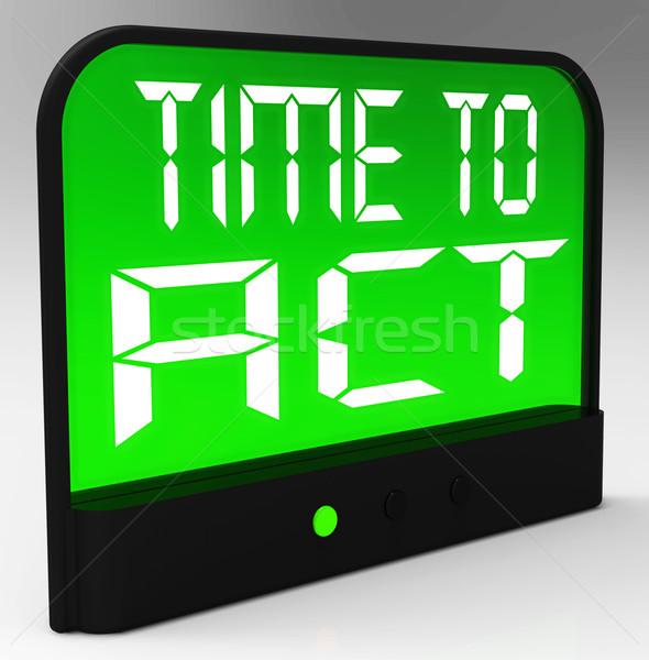 Stockfoto: Tijd · handelen · bericht · betekenis · urgent · actie