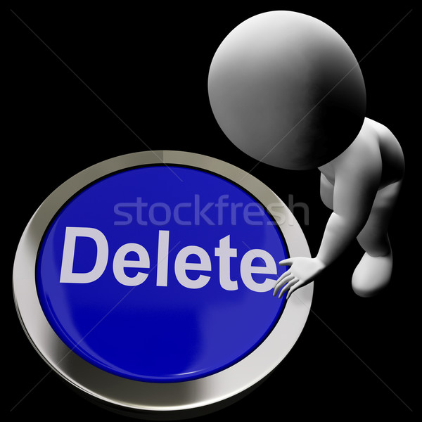 Delete Button For Erasing Or Deleting Trash Stock photo © stuartmiles