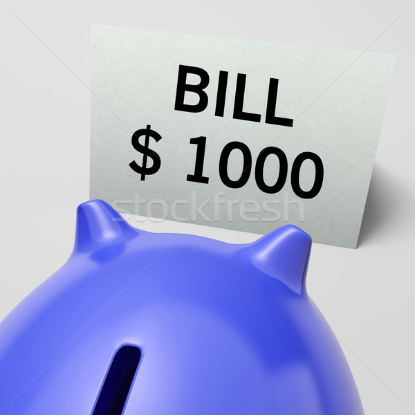 One Thousand dollars, usd Bill Showing Expensive Taxes Stock photo © stuartmiles