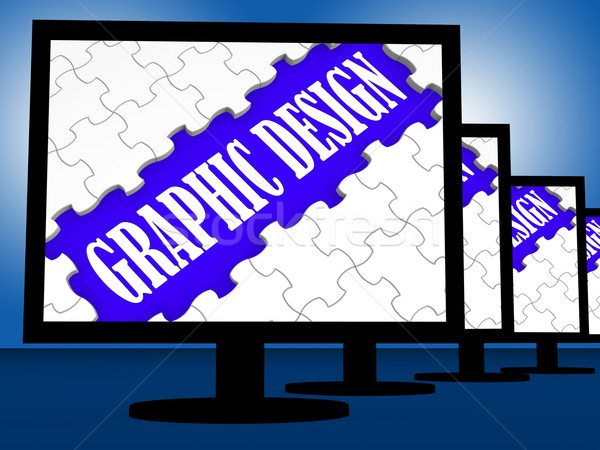 Stok fotoğraf: Grafik · tasarım · dijital · çizim · ekran · grafik · stil