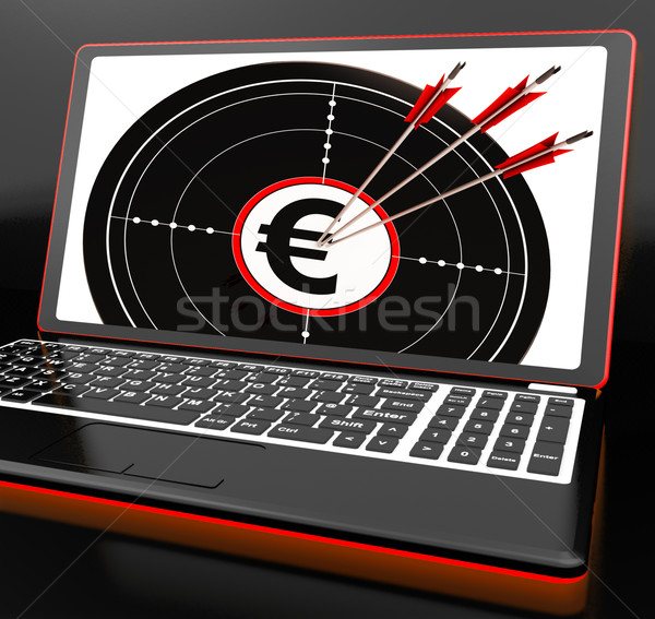 Euro simge dizüstü bilgisayar kazanç avrupa para Stok fotoğraf © stuartmiles