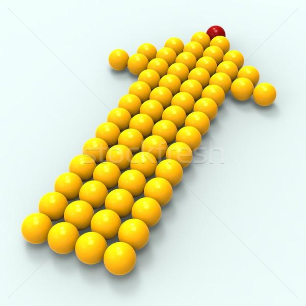 Leading Metallic Balls In Arrow Shows Leadership Stock photo © stuartmiles