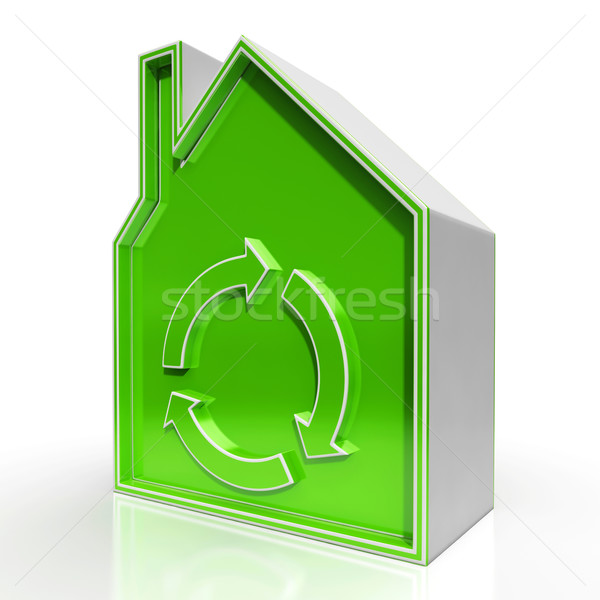 Eco House Shows Environmentally Friendly Home Stock photo © stuartmiles