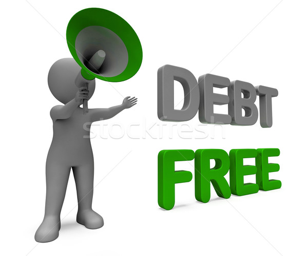 Debt Free Character Means Financial Freedom Credit Or No Liabili Stock photo © stuartmiles
