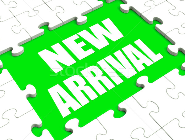 New Arrival Puzzle Shows Latest Products Announcement Arriving Stock photo © stuartmiles
