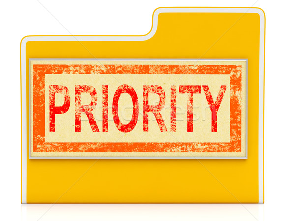 Priority File Shows Speedy Rush Immediate Delivery Stock photo © stuartmiles