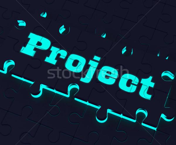 Projeto quebra-cabeça planejamento plano missão tarefa Foto stock © stuartmiles