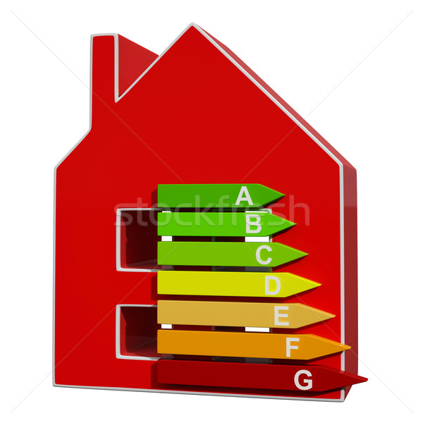 Energy Efficiency Rating Icon Meaning Efficient House Stock photo © stuartmiles