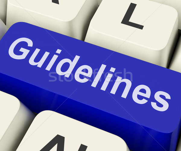 Guidelines Key Shows Guidance Rules Or Policy Stock photo © stuartmiles