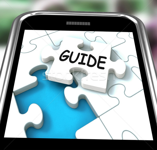 Guider smartphone web directives aider Photo stock © stuartmiles