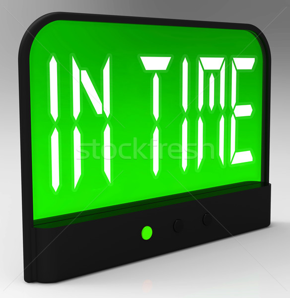 Tijd klok stipt niet laat betekenis Stockfoto © stuartmiles