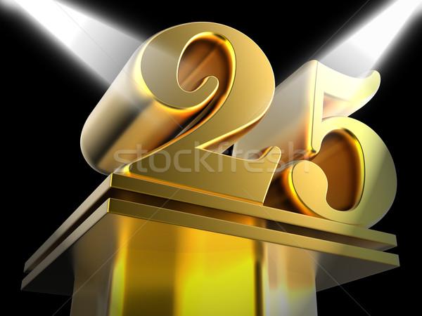 Dorado veinte cinco película aniversario Foto stock © stuartmiles