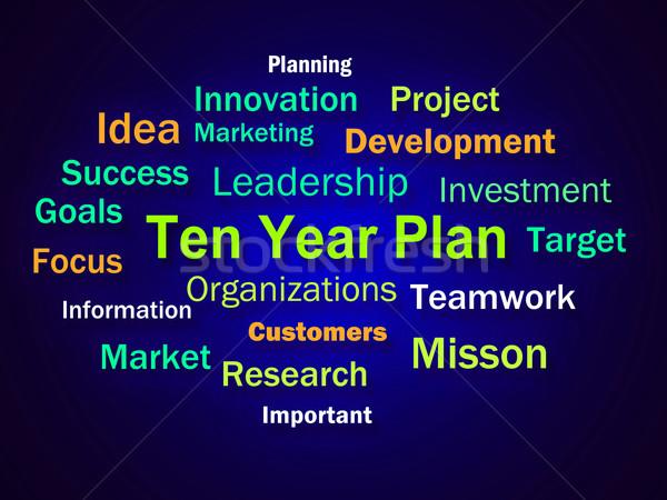 Dieci anno piano brainstorming società calendario Foto d'archivio © stuartmiles