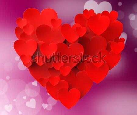 Cuore cuori appassionato amore amorevole matrimonio Foto d'archivio © stuartmiles