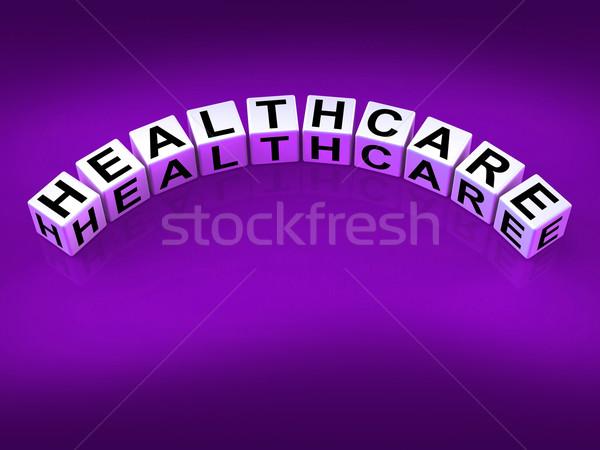Gezondheidszorg dobbelstenen show medische gezondheid Stockfoto © stuartmiles