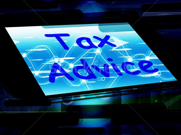 Tax Advice On Phone Shows Tax Help Online Stock photo © stuartmiles