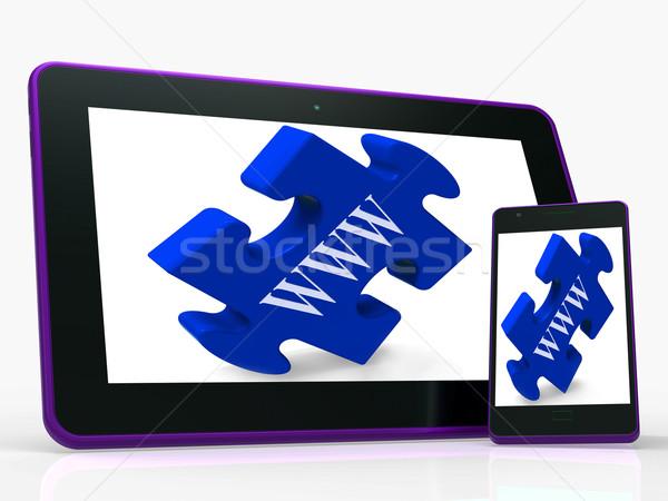 Www smartphone internet web online tonen Stockfoto © stuartmiles