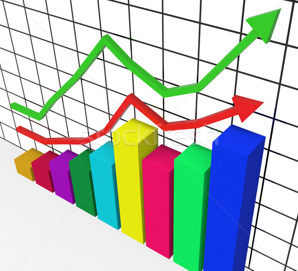 Graph Increasing Represents Marketing Profitable And Improve Stock photo © stuartmiles