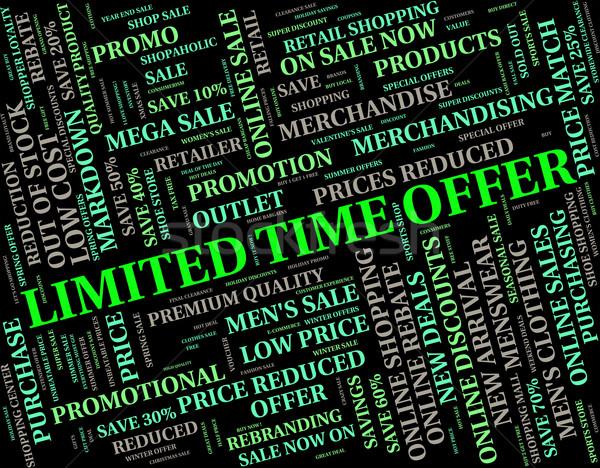 Czasu oferta data ostateczny termin sprzedaży Zdjęcia stock © stuartmiles