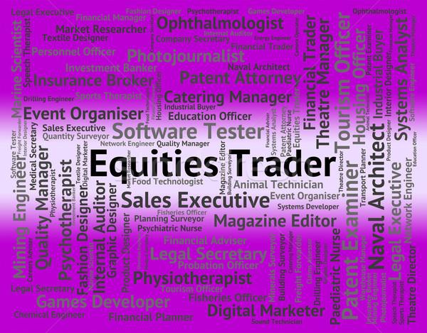 トレーダー 株式市場 ビジネスマン 金融 作業 職業 ストックフォト © stuartmiles