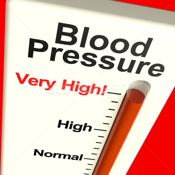 Very High Blood Pressure Showing Hypertension And Stress Stock photo © stuartmiles