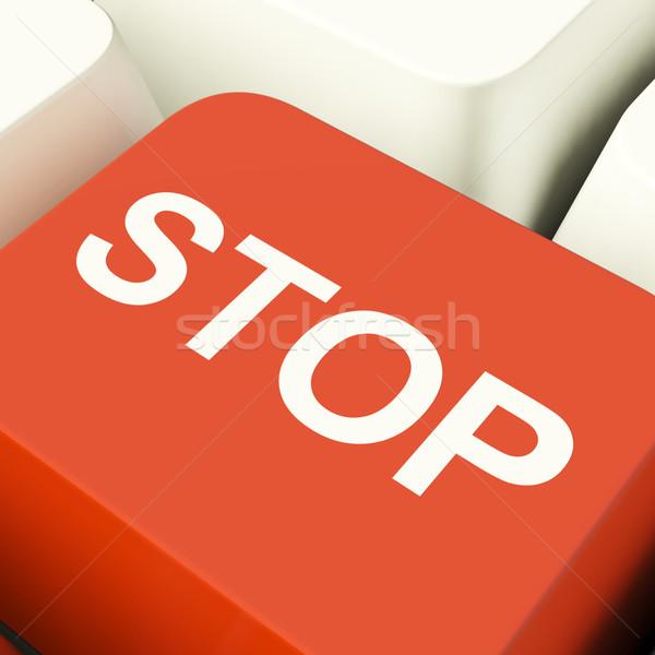 Pare computador chave negação pânico Foto stock © stuartmiles