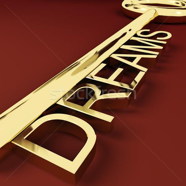 Dreams Key Representing Hopes And Visions Stock photo © stuartmiles