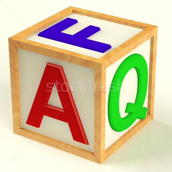 Helyesírás gyik szimbólum kérdések válaszok fából készült Stock fotó © stuartmiles