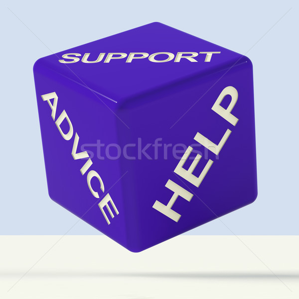Support Advice Help Dice Representing Questions And Answers Stock photo © stuartmiles