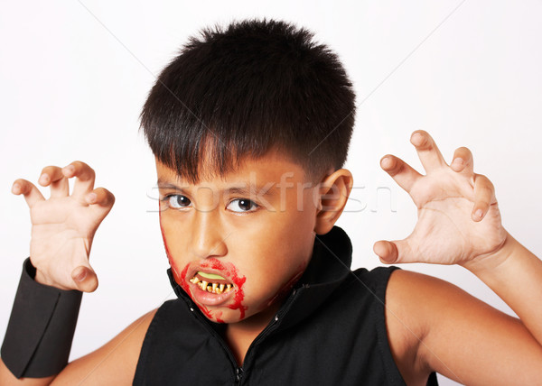 Boy With Scary Costume For Halloween Stock photo © stuartmiles