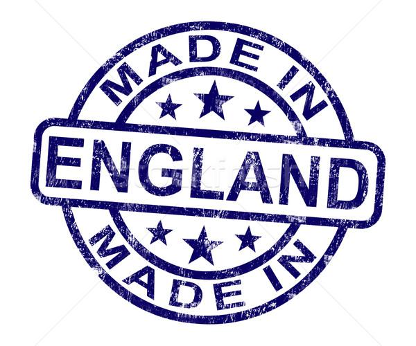 Inghilterra timbro english prodotto produrre Foto d'archivio © stuartmiles
